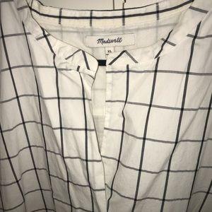 Madewell Dresses - Madewell Sleeveless Grid Print Dress XL